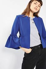 TOPSHOP *Blue Crop Frill Jacket* SIZE_UK6_8_10_12_14_16