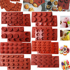 Silicone Muffin Cupcake Pan Mold Chocolate Cake Candy Cookie Baking Mould Tools
