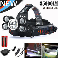 35000LM CREE XM-L T6 LED Headlamp Flashlight Headlight Head Light Lamp Torch New