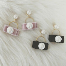 Stud Earrings Pearl 1Pair Earrings Cute Earring Pearl Design For Women Velvet