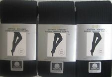 Womans Cotton Rich Warm SuperSoft Solid Color Sweater Footed Tights French Link