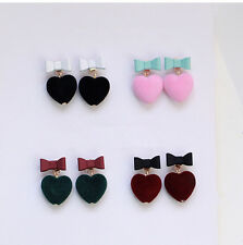 Earring` Candy Bow tie Earrings Color Stud Earrings 1Pair Pur Ball Love Heart
