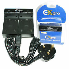Ex-Pro® Digital Camera Dual Battery Charger NB-12L for Canon LEGRIA mini X