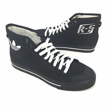 NWT $350 RAF SIMONS Adidas Men's Matrix Spirit High Top Black Sneakers AUTHENTIC