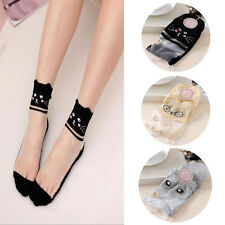 Ankle Socks New Mesh Knit Elastic 1 Pairs Lace Sock Comfy Cotton Women