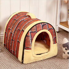 Pet Dog Cat Beds House Puppy Dog Kennel Cave Nest W/Mat Cozy Cushion Beds Washab