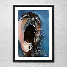 Pink Floyd 'The Wall 1982' - Framed Vintage Rock Man Cave Movie Poster Print