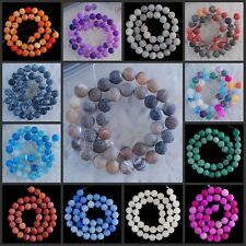 """V1192-1205 10mm Wholesale Fire Agate Ball Loose Beads 14.5"""""""
