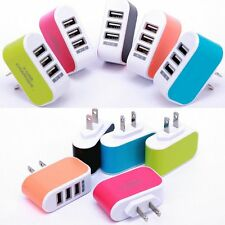 Travel Wall Home Charger Adapter 3-Port USB AC LED Power Light