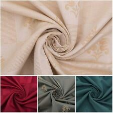 Vicenza Luxury Ribbed Silk Weave Floral Damask Curtain Cushion Upholstery