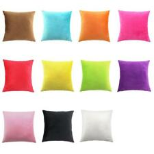 Candy Color Square Velvet Throw Pillow Case Lounge Cafe Cushion Cover 45cm