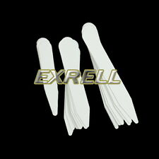 "200pcs/Set Plastic Collar Stays 3 Sizes 2.5"" 3"" & 2"" Stiffeners For Mens Shirt"