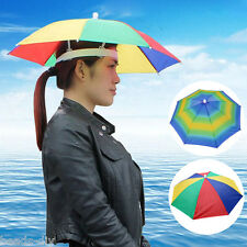 F0 Headwear MultiColor Umbrella Hat Cap Beach Sun Rain Fishing Camping Hunting