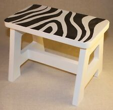 Little Sitters Kids Stool, mini stool hand made and painted, foot step,