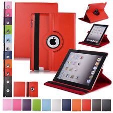 360 Rotating Leather Smart Cover Protective Hard Case Stand For iPad Mini 1 2 3
