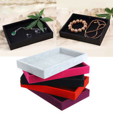 New Jewelry Trays Inserts Velvet Catch All Jewelry Display Tray Case Stackable