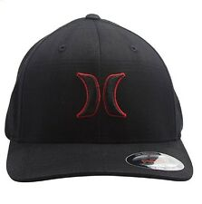 Mens Hurley (Puerto Rico) Blk Suits Outline Flexfit Hat