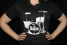 The Beatles Drums Rock Music band Black T-Shirt size Small