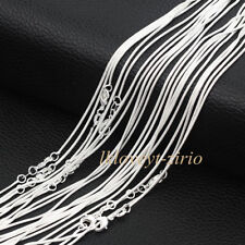 "Wholesale Lots Women 925 Sterling Solid Silver Snake Chain Necklaces 16""-30"""
