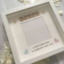 FATHERS DAY Frame Dad Daddy Son's first hero, Daughters first love Gift Present