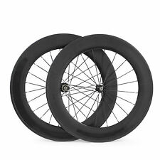 700C Carbon Road Bike Wheels Front&Rear 88mm Clincher Bicycles Wheelset 23mm New