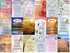 LAMINATED BIRTHDAY/ANNIVERSARY/REMEMBRANCE/GRAVE/MEMORIAL/BEREAVEMENT CARD