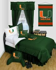 University of Miami Hurricanes Dorm Bedding Comforter Set