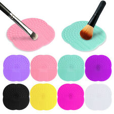 Silicone Makeup Brush Cleaner Washing Scrubber Board Cleaning Mat Pad BM