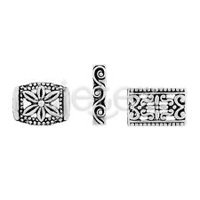 3 style 30/50pcs Tibetan Silver Spacer Metal Bead Jewelry Finding