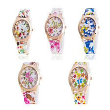 Watches Fashion Floral Watch New  1Pcs Watch Jelly Silicone Women Quartz Sports