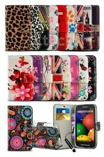 LG Tribute 5 / LS675 - New Printed Pattern Design Wallet Case Cover & Mini Pen