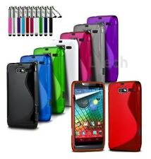 Vodafone Smart Ultra 6 - Silicone S-Line Wave Gel Rubber Case Cover & Ret Pen