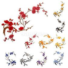 1 PCS Plum Blossom Flower Applique Iron On Sew On Embroidered Patch Craft