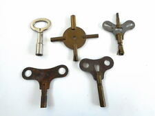 LOT OF 5 VINTAGE ANTIQUE  CLOCK WIND KEYS Double Sided & Single Various Sizes