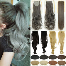 Long Straight Curly Drawstraing Ponytail Clip In As Human Hair Extensions Fake