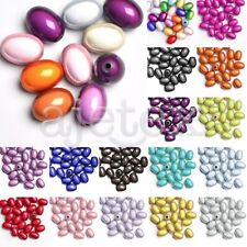10pcs/25pcs 19x13.5x13.5mm/11x8x8mm Acrylic Oval Miracle Illusion Beads Spacer