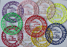 PACK OF 10 ASSORTED LACEY CIRCLES for with a greeting idea for CARD MAKING