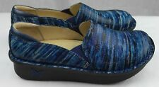 Alegria Professional Debra Wavy Navy Nurses/Doctor/Chef Shoes Leather Clogs