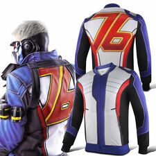 OW 76 Soldier Stand Collar Zip up Long Sleeve Cosplay Jacket Sport Baseball Coat