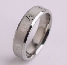 Skull Ingrained 6MM Stainless Steel Wedding Engagement Anniversary Ring/Band
