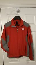 North Face Men's Apex Soft Shell Jacket Red Grey Mens Size S Coat with Arm Zip