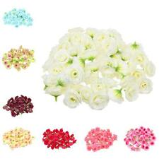 "(50pcs) 1.38"" Silk Roses - Artificial Flower Heads- Wedding 8 Colors"