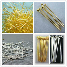 Hot Fashion Plated Ball Head Eye Pins Jewelry Finding 15/20/25/30/35/40/45/50mm
