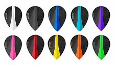 Harrows Retina 100 Micron Dart Flights - PEAR - Choose colour & number of sets !