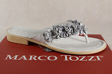 Marco Tozzi Toe thong mules Backless Sandals Sandals white silver 27110 NEW