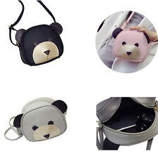 1Pcs Women Girl's Handbags Cute bear face PU Leather Shoulder Bag Messenger bag