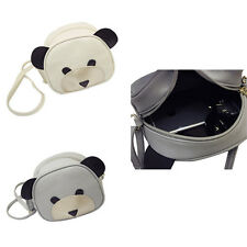 1Pcs PU Leather Girl's Cute bear face Shoulder Bag Women HOT Handbags