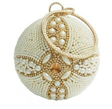 New Round Pearl Evening Bag Crystal Women Evening Clutch Bags Ball Clutch Purse