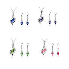 Combination HOT Hot Earrings Austrian Crystal Fashion NEW Necklace 2016 1 Set