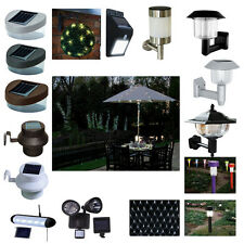 SOLAR POWERED GARDEN WALL FENCE GUTTER TOPIARY SECURITY SHED LIGHTS OUTDOOR